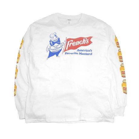 FRANK'S  FRENCH'S L/S T-SHIRTS (MASTARD DAN) WHITE
