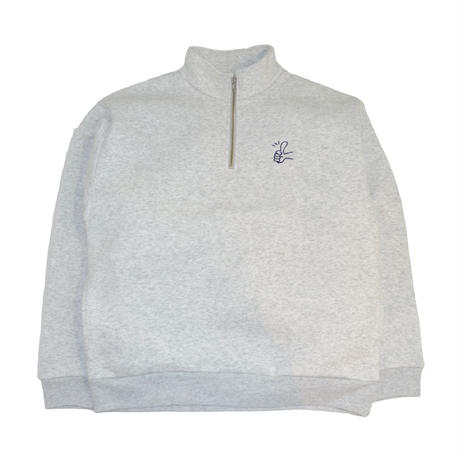 OldGoodThings HALF ZIP SWEAT (Goody) ASH GREY