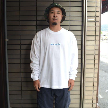 re:create ORIGINAL L/S T-SHIRTS (Comfort Zone) WHITE