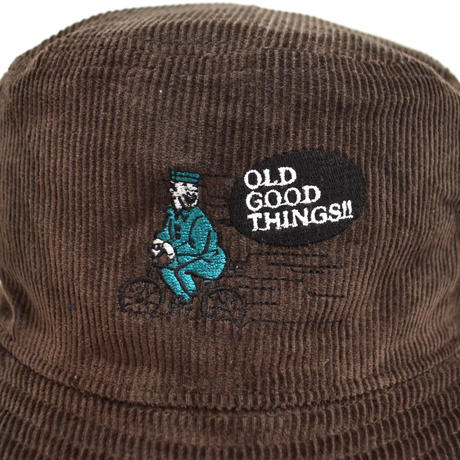 OldGoodThings CORDUROY BUCKET HAT (NEVER-Luige-Luige Ver.) D.BROWN