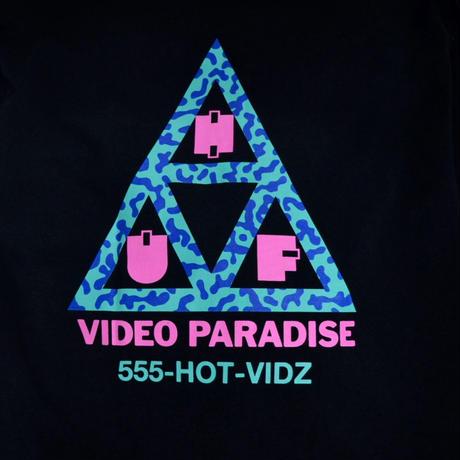 HUF S/S T-SHIRTS (VIDEO PARADISE) BLACK