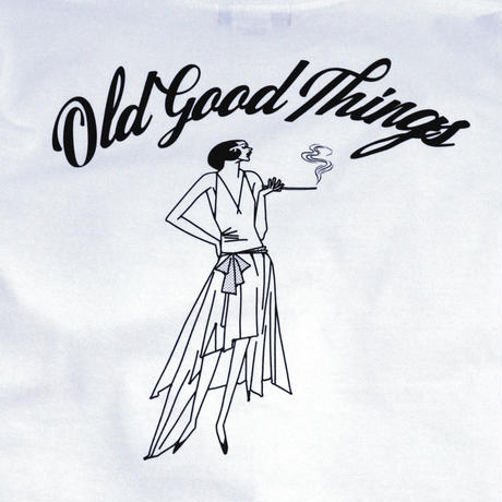 OldGoodThings L/S T-SHIRTS (NEW ORLEANS) WHITE