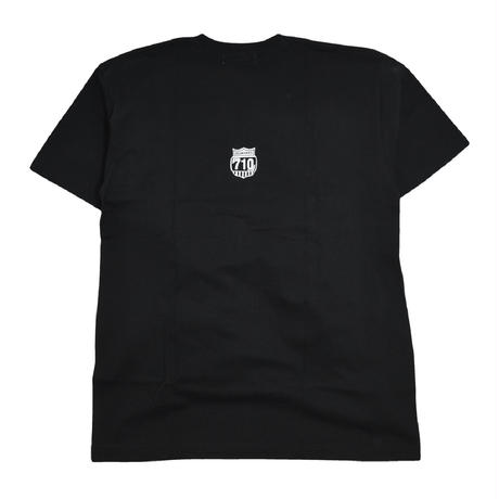 OILWORKS S/S T-SHIRTS (710CREW DIAMOND) BLACK