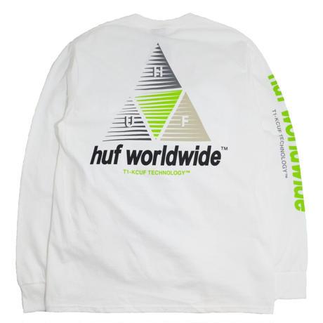 HUF L/S T-SHIRTS (PRISM LOGO SCRIPT) WHITE