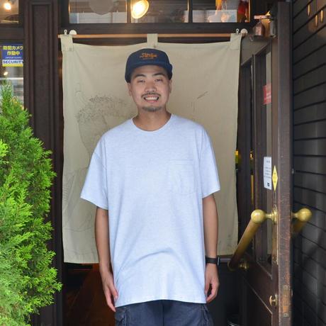 re:create (S/S 無地 POCKET T-SHIRTS) ASH GREY