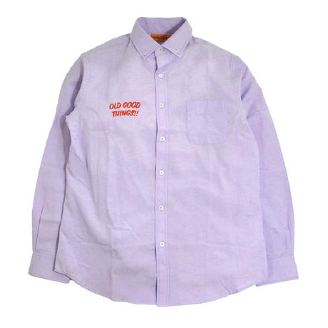 OldGoodThings L/S OX SHIRTS (ALL GOOD DAY) LIGHT PURPLE