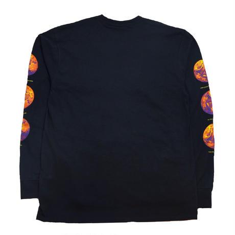 HUF L/S T-SHIRTS (CLIMATE MELTDOWN) BLACK