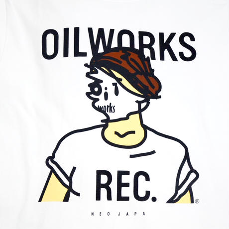 OILWORKS S/S T-SHIRTS (OILWORKS REC)WHITE