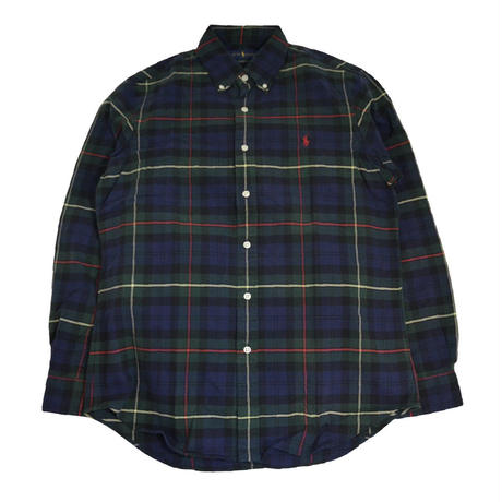 POLO RALPH LAUREN L/S CHECK SHIRTS (CLASSIC FIT) NAVY