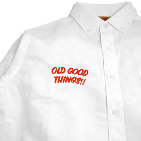 OldGoodThings L/S OX SHIRTS (ALL GOOD DAY) WHITE