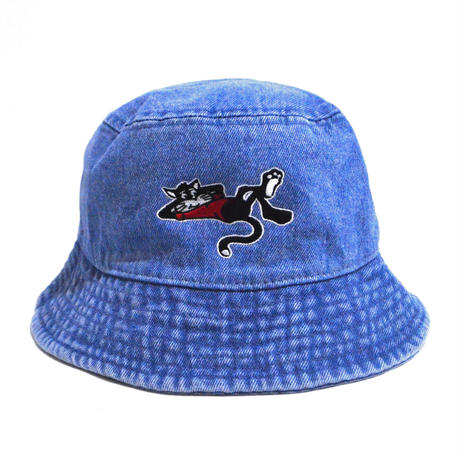 OldGoodThings BUCKET HAT (WHY THE RUSH?) LIGHT BLUE DENIM