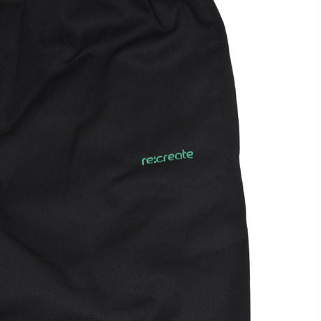 re:create EASY PANTS (PLAYER) BLACK