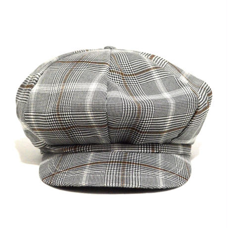 NO BRAND (8PANEL CASQUETTE) GREY CHECK
