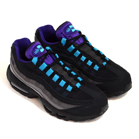 NIKE (AIR MAX 95 LV8) BLACK/PURPLE