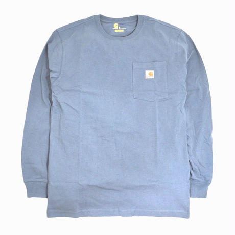 CARHARTT USA L/S POCKET T-SHIRTS L.BLUE