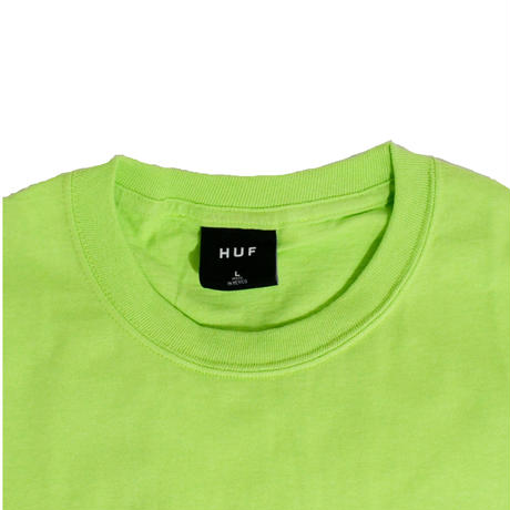HUF S/S T-SHIRTS (ESSENTIAL CLASSIC) LIME