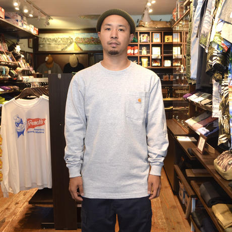 CARHARTT USA L/S POCKET T-SHIRTS H.GREY