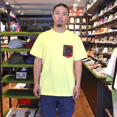TRESREYES S/S POCKET T-SHIRTS (SATURDAY NIGHT) LIGHT YELLOW