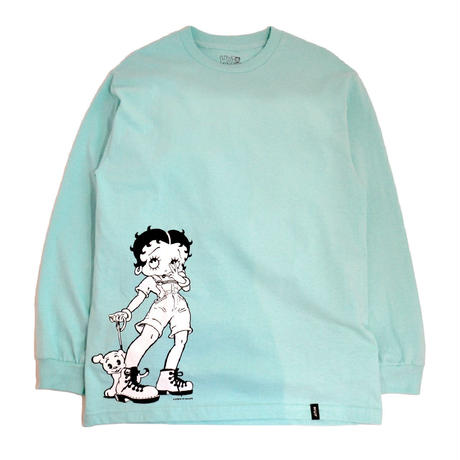 HUF L/ST-Shirts (HUF x BETTY BOOP(DOWN TOWN)) CELADON