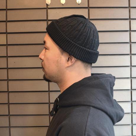 NO BRAND (WATCH CAP ケーブル編み) BLACK