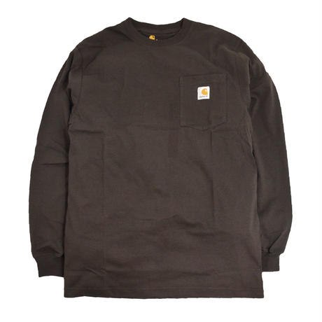 CARHARTT USA L/S POCKET T-SHIRTS COFFEE