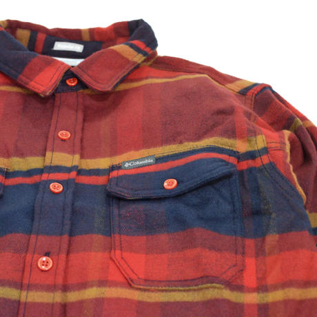 COLUMBIA L/S CHECK SHIRTS (DESLHUTER RIVER) RED