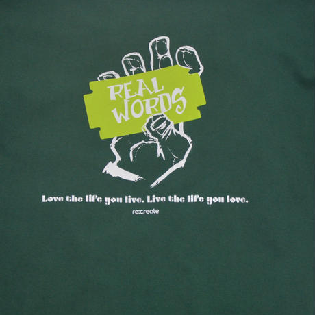 re:create S/S T-SHIRTS (REAL WORDS) IVY GREEN