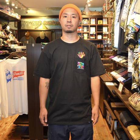 HUF S/S POCKET T-SHIRTS (CLUB) BLACK