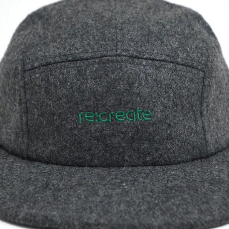 re:create ORIGINAL MELTON WOOL CAP (PLAYER) D.GREY