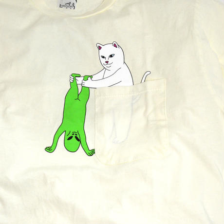 RIPNDIP S/S POCKET T-SHIRTS (BREAK YO SELL) NATURAL