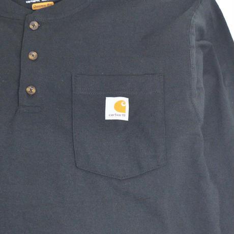 CARHARTT USA (L/S HENLEY T-SHIRTS) BLACK