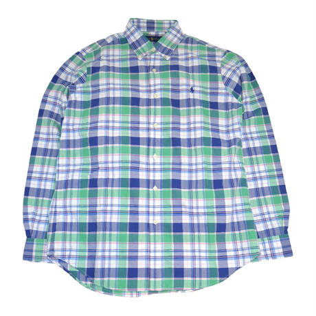 POLO RALPH LAUREN L/S CHECK SHIRTS (CLASSIC FIT) BLUE/GREEN