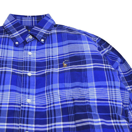POLO RALPH LAUREN L/S CHECK SHIRTS (CLASSIC FIT) NAVY/BLUE