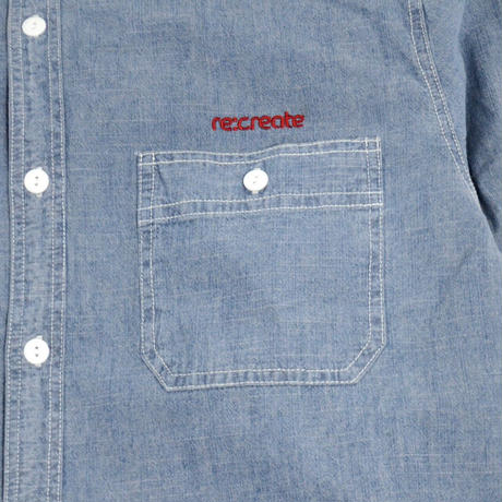 re:create L/S CHAMBRAY SHIRTS (PREMIUM LABEL) L.BLUE