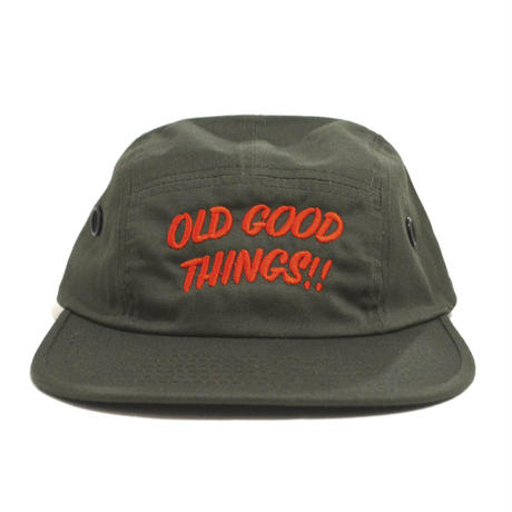 OldGoodThings 5PANEL CAP (ORIGINAL LOGO) OLIVE