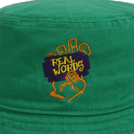 re:create BUCKET HAT (REAL WORDS) K.GREEN