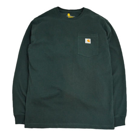 CARHARTT USA L/S POCKET T-SHIRTS D.GREEN