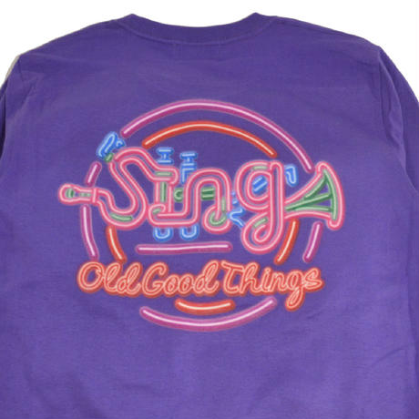O.G.T L/S T-SHIRTS (Sing-Neon) PURPLE