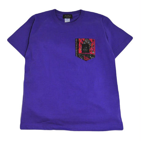 TRESREYES S/S POCKET T-SHIRTS (SATURDAY NIGHT) PURPLE