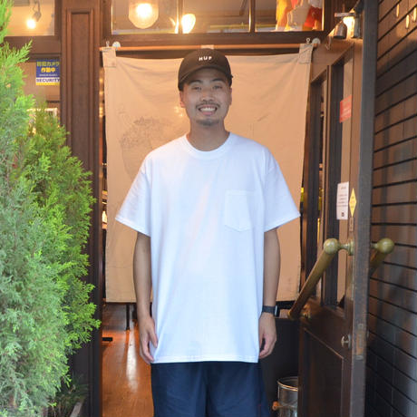 re:create (S/S 無地 POCKET T-SHIRTS) WHITE