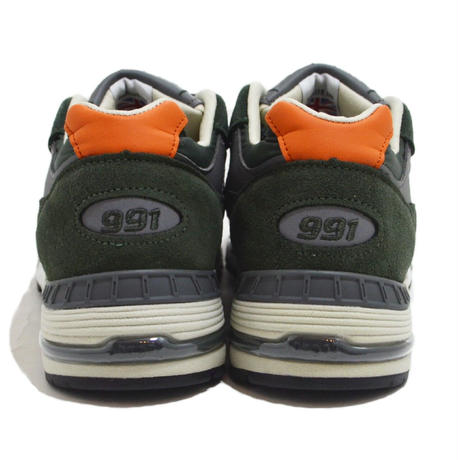 NEW BALANCE (M991 MADE IN ENGLAND) GREEN/ORANGE