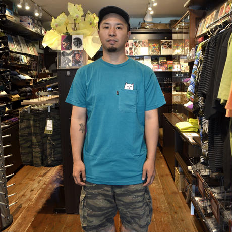 RIPNDIP S/S POCKET T-SHIRTS (LOUD NERMAL) TURQUOISE