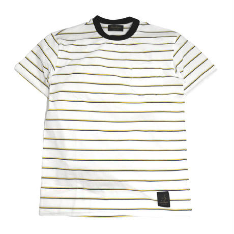TRESREYES S/S BORDER T-SHIRTS (IN THE GROOVE) WHITE