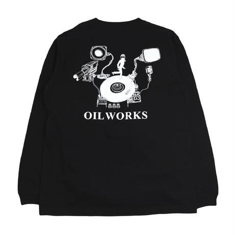 OILWORKS L/S T-SHIRTS (OILWORKS) BLACK