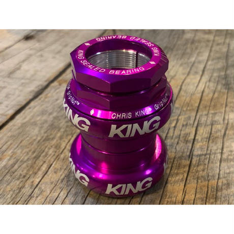 CHRISKING GRIP NUT 1-1/8(白ロゴ)