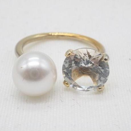 【EC-31】一粒デザイン パール リング 指輪