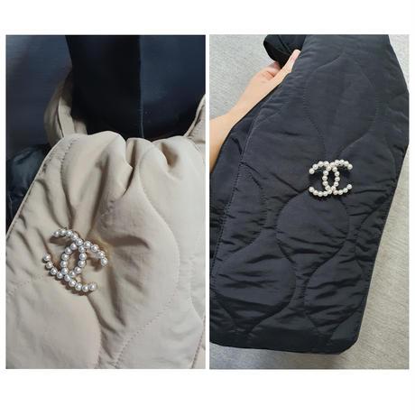 マフラー付きペディングジャケット