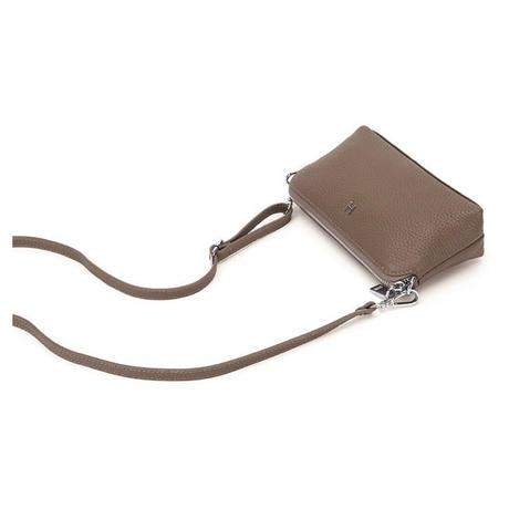 牛革製ミニクロスバッグ