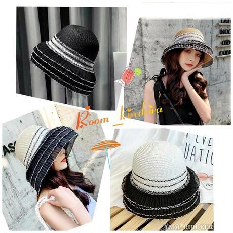 カンカンフリル帽子