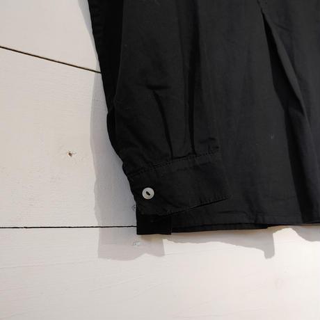 ブルガリアタイプグランパシャツ  後染めブラック